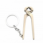 Creative Pilers Style Key Ring Keychain - Iron Grey + Silver