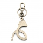 Creative Single Handcuff Style Key Ring Keychain - Grey