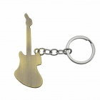 Creative Electric Guitar Shaped Pendant Keychain - Bronze + Silver