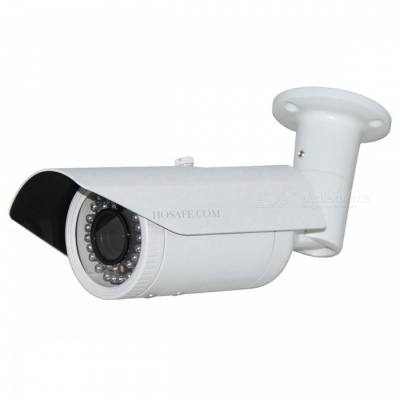 HOSAFE 1080P 2.0MP 2.8 ~ 12mm zoom POE cámara IP al aire libre - blanco