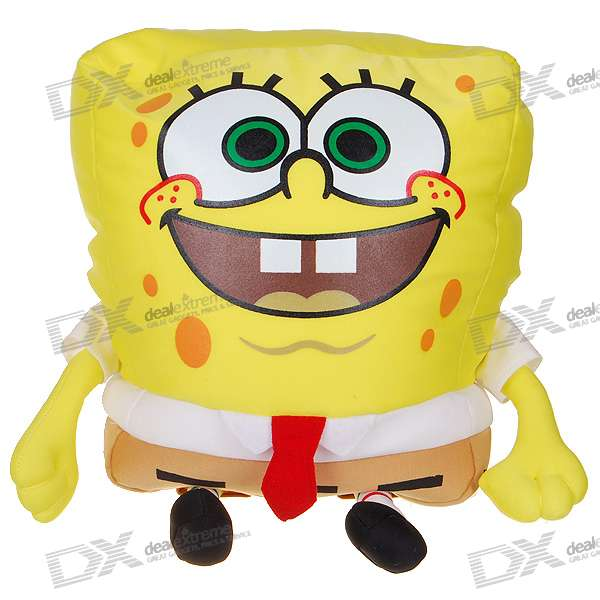Cute SpongeBob SquarePants Pet Hands-in Soft Doll Pillow