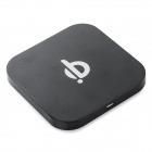 Universal Qi Standard Wireless Charger w/ 5V Dual USB Ports - Black