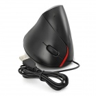 5D Design Ergonômico USB 2.0 LED WiVermelho Optical Vertical Mouse - Preto