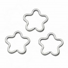 Flower Shaped Key Rings - Silver (3PCS)