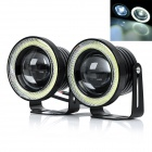 "exLED 3"" 10W 6500K 1200lm Cool White Car Fog Lamp / Motorcycle Head Lamp - Black (2 PCS)"