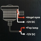 "exLED 3"" 10W 6500K 1200lm Cold White Car Lamp (2PCS)"