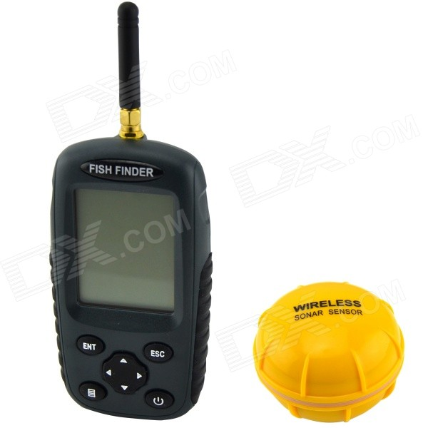 2.5'' Dot Matrix  LCD Rechargeable Wireless Sonar Fish Finder - Dark Grey