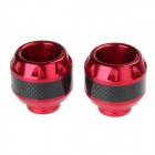 Motorcycle Modification Drop Protection Front Fork Cup for Honda MSX125 - Red (2pcs)