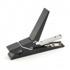 Double-Duty Portable Mini Clip Clamp & Stapler - Black + Silver