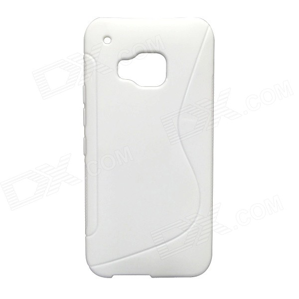 HM9 Protective S-Pattern TPU Back Case Cover for HTC One M9 - White