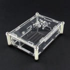 New Acrylic Case Shell with Fan Hole for Raspberry Pi 2 Model B & Model B+ - Transparent + Black