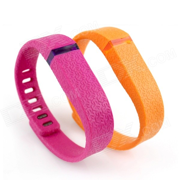 Small Size Wristband for Fitbit Flex - Deep Pink + Orange (2 PCS)Wearable Device Accessories<br>Form  ColorLight Orange + Dark Pink + Multi-ColoredModel9A-SQuantity1 DX.PCM.Model.AttributeModel.UnitMaterialRubberShade Of ColorOrangeWater-proofYesPacking List2 x Wristbands<br>