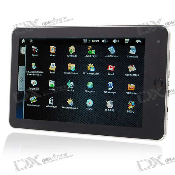"7"" Touch Screen TFT LCD Google Android 1.5 Tablet PC w/ WiFi/Camera (ARM926EH-S rev5)"