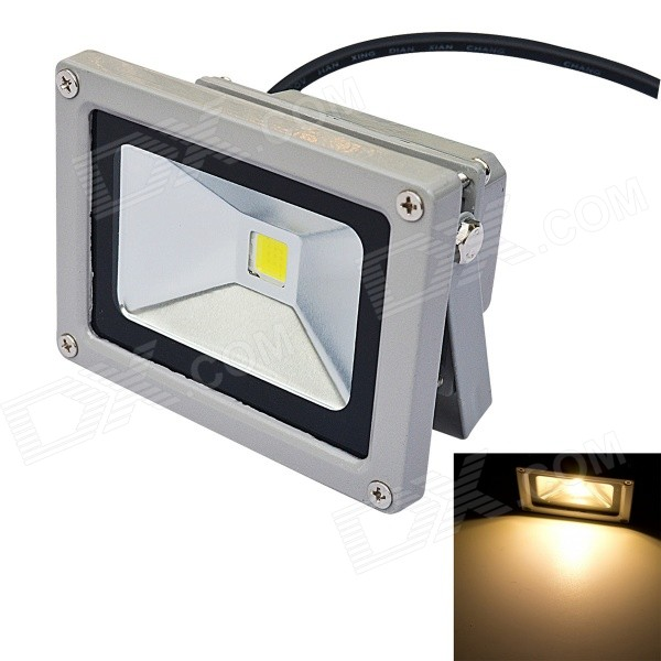 Impermeable 10W 800lm 3200K Warm LED Reflector-Gris (AC85 ~ 265V)