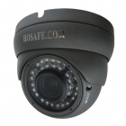 HOSAFE 2MD3G Waterproof 1080P Dome Outdoor 2.0MP IP Camera w/ ONVIF / 36-IR LED - Grey (EU Plug)