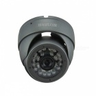 HOSAFE Waterproof 1.3MP Security Metal Dome IP Camera w/ 24-IR-LED / IR-CUT - Deep Grey (EU Plug)