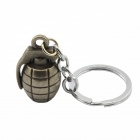 Creative Grenade Style Key Ring Keychain - Iron Grey + Silver