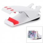 "360' Rotation Car Pad Mount Holder Clamp Clip for IPHONE / 4~8"" Mobile Phones - White"