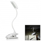 USB 4W 28-LED 3-Mode luz blanca 6500K 100lm clip-on mini lámpara de mesa
