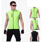 WOLFBIKE BC204-2XL Outdoor Sports Cycling Water-resistant Windproof Florescent Vest - Green (2XL)