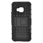 Protective TPU + PC Back Case Cover w/ Holder for HTC ONE M9 - Black