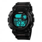 SKMEI Students' 50M Water-resistant Digital Sports Watch w/ Backlight - Black (1 x CR2025)