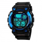 SKMEI Students' 50M Water-resistant Digital Sports Watch w/ Backlight - Black + Blue (1 x CR2025)