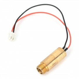 5mW 532nm Green Laser Module w/ Cable - Golden (3V)