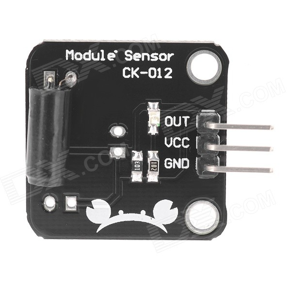 DIY Alarm Vibration Sensor Module for Arduino - Black + White