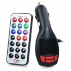 "S-What 1.5"" Car FM Transmitter w/ MP3 Player / Hands-Free Calls / USB 2.0 / TF / Remote Controller"