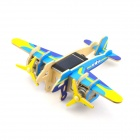 Robotime P330 Falcon Solar Powered DIY Assembly Bomber Aircarft Toy - Blue + Yellow