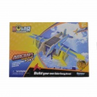 Robotime P330 Solar Powered DIY Assembly Bomber Aircarft Toy - Blue
