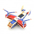 Robotime P310 Osprey Solar Powered Double-Engineer DIY Assembly Transport Plane Toy - Blue + Red