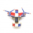 Robotime P310 Solar Powered Double-Engineer Assembly Toy - Blue + Red