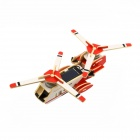 Buy Robotime P320S Knight Solar Powered Double-Engineer DIY Assembly Transport Plane Toy - Red + White
