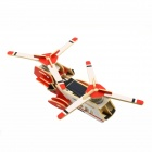 Robotime P320S Solar Powered DIY Assembly Transport Plane Toy - Red
