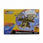 Robotime P350 Solar Powered DIY Assembly Aircraft Toy - Dark Green