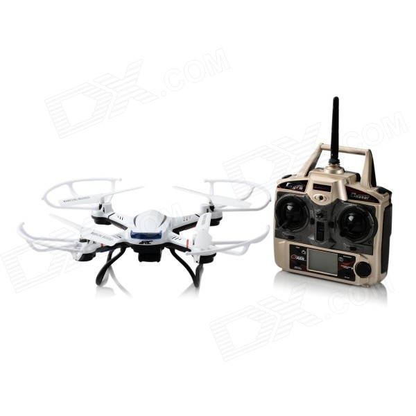 JJRC H12C 2.4GHz UFO w / 6-Axis / Mode Cabeçaless Gyro / 5.0MP Camera - Branco