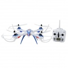 JJRC X6 Shockproof 2.4GHz 4-CH 6-axis UFO Quadcopter w/ Gyro - White + Light Blue