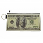 US Dollar Change Pocket - White + Beige (17.8 x 9.5 x 0.8cm)