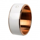 TIMER 2 Waterproof 13.5MHz Smart Ring w/ NFC - White + Golden (Size 9)