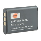DSTE NP-BY1 800mAh Li-ion Battery + DC16 US Plug Charger for SONY HDR-AZ1, AZ1VW, AZ1VR, AZ1VB