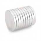 NdFeB N35 Round Magnets - Silver (15*2 mm / 10PCS)