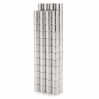 NdFeB N35 Round Magnets - Silver (4*4mm / 100PCS)