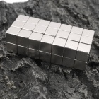 NdFeB N35 Square Magnet - Silver (10*10*10mm / 50PCS)