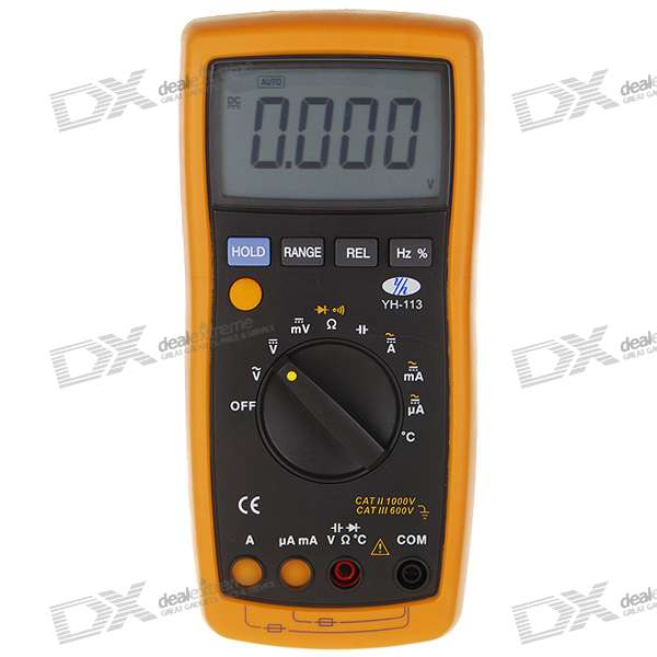 "2.8"" LCD Handheld Auto Range Multimeter (Voltage + Current + Resistance + Temperature/3*AAA)"