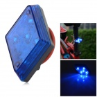 WH-22 Waterproof 5-LED 7-Mode Blue Light Bike Tail Light w/ Clip - Blue + Black (2 x CR2032)