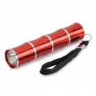 Outdoor 30lm 1-LED 1-Mode White Light Torch Flashlight w/ Strap - Red (1 x AA)