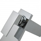 Brass Chrome Finish Single Waterfall Bathroom Sink Faucet - Silver