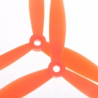 3-Leaf Nylon Propeller CW / CCW for 250 Frame Kit - Orange (Pair)